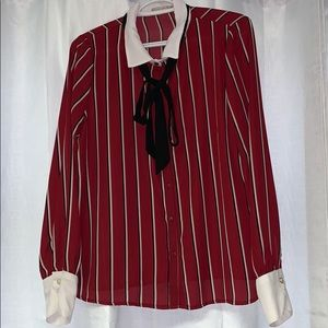 Red stripped blouse